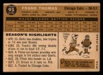 1960 Topps #95   Frank Thomas Back Thumbnail