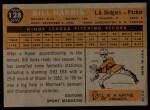 1960 Topps #128  Rookies  -  Bill Harris Back Thumbnail