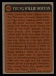 1972 Topps #494  Boyhood Photo  -  Willie Horton Back Thumbnail