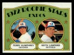 1972 Topps #489   Expos Rookie Stars    -  Terry Humphrey / Keith Lampard Front Thumbnail