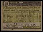 1961 Topps #454  Pumpsie Green  Back Thumbnail