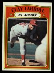 1972 Topps #312   -  Clay Carroll In Action Front Thumbnail