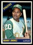 1966 Topps #458  Manny Jimenez  Front Thumbnail