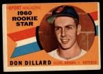1960 Topps #122  Rookie Stars  -  Don Dillard Front Thumbnail