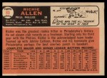 1966 Topps #80   Dick Allen Back Thumbnail