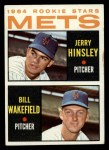 1964 Topps #576  Mets Rookies  -  Jerry Hinsley / Bill Wakefield Front Thumbnail