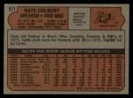 1972 Topps #571   Nate Colbert Back Thumbnail
