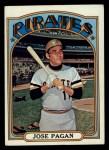 1972 Topps #701   Jose Pagan Front Thumbnail