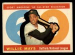 1960 Topps #564  All-Star  -  Willie Mays Front Thumbnail