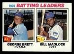 1977 Topps #1   -  George Brett / Bill Madlock Batting Leaders   Front Thumbnail