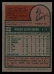 1975 Topps #591   Glenn Abbott Back Thumbnail
