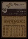 1973 Topps #145   Bobby Bonds Back Thumbnail
