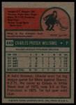 1975 Topps #449   Charlie Williams Back Thumbnail