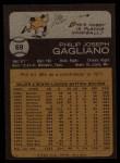 1973 Topps #69   Phil Gagliano Back Thumbnail