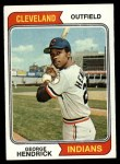 1974 Topps #303   George Hendrick Front Thumbnail