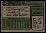 1974 Topps #585   Merv Rettenmund Back Thumbnail