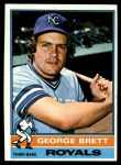 1976 Topps #19  George Brett  Front Thumbnail