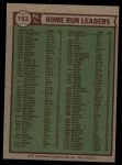 1976 Topps #193  1975 NL Home Run Leaders    -  Mike Schmidt / Dave Kingman / Greg Luzinski Back Thumbnail