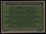 1977 Topps #473   Rookie Outfielders    -  Andre Dawson / Gene Richards / John Scott / Denny Walling Back Thumbnail