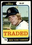 1974 Topps Traded #63 T  Bill Sudakis Front Thumbnail