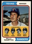 1974 #379   -  Billy Martin / Art Fowler / Frank Lucchesi / Jackie Moore / Charlie Silvera Rangers Leaders   Front Thumbnail