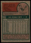 1975 Topps #490   Reggie Smith Back Thumbnail