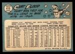 1965 Topps #415   Curt Flood Back Thumbnail