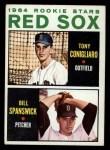 1964 Topps #287   Red Sox Rookie Stars  -  Tony Conigliaro / Bill Spanswick Front Thumbnail