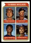1974 Topps #604   -  Terry Hughes / John Knox / Andy Thornton / Frank White Rookie Infielders   Front Thumbnail