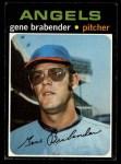 1971 Topps #666   Gene Brabender Front Thumbnail