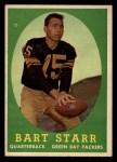 1958 Topps #66  Bart Starr  Front Thumbnail