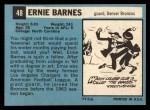 1964 Topps #48   Ernie Barnes Back Thumbnail