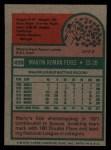 1975 Topps #499   Marty Perez Back Thumbnail