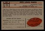 1953 Bowman #73  Pete Pihos  Back Thumbnail