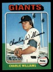 1975 Topps #449   Charlie Williams Front Thumbnail