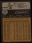 1973 Topps #195   Clay Carroll Back Thumbnail