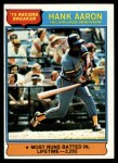 1976 Topps #1  Record Breaker  -  Hank Aaron Front Thumbnail