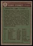 1976 Topps #6  Record Breaker  -  Rennie Stennett Back Thumbnail