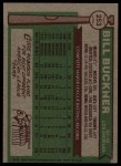1976 Topps #253   Bill Buckner Back Thumbnail