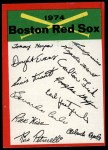 1974 Topps Red Team Checklists #3  Red Sox Team Checklist  Front Thumbnail