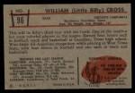 1953 Bowman #96   William Cross Back Thumbnail