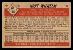 1953 Bowman Black and White #28  Hoyt Wilhelm  Back Thumbnail