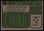 1974 Topps #70  Rich Allen  Back Thumbnail