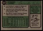 1974 Topps #621   Bernie Carbo Back Thumbnail