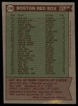 1976 Topps #118   -  Darrell Johnson Red Sox Team Checklist Back Thumbnail