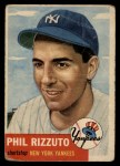 1953 Topps #114   Phil Rizzuto Front Thumbnail
