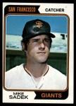 1974 Topps #577   Mike Sadek Front Thumbnail