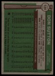 1976 Topps #530   Don Sutton Back Thumbnail