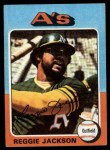 1975 Topps Mini #300   Reggie Jackson Front Thumbnail