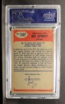 1955 Bowman #107  Art Spinney  Back Thumbnail
